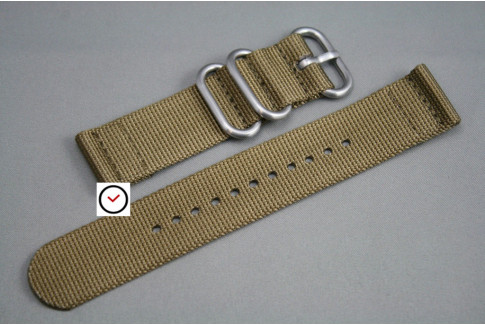 Bronze Brown 2 pieces ZULU strap (highly resistant fabric)