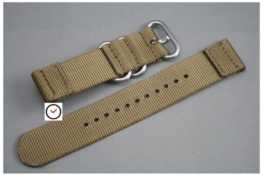 Bracelet montre ZULU 2 pièces Marron Bronze