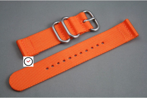Orange 2 pieces nylon strap (highly resistant fabric)