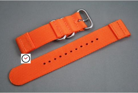 Bracelet montre ZULU 2 pièces Orange