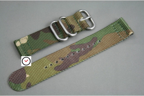 Camouflage 2 pieces nylon strap (highly resistant fabric)
