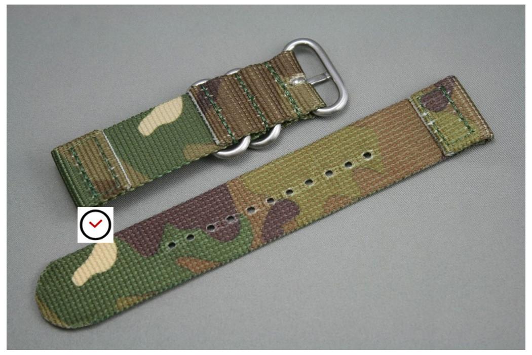 Bracelet montre ZULU 2 pièces Camouflage