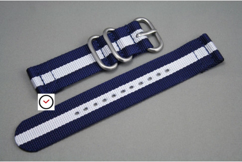 Navy Blue White 2 pieces nylon strap (highly resistant fabric)