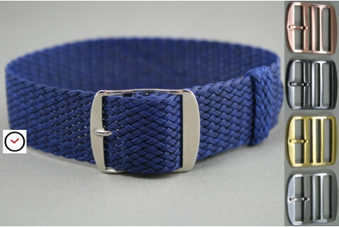 Dark Blue braided Perlon watch strap