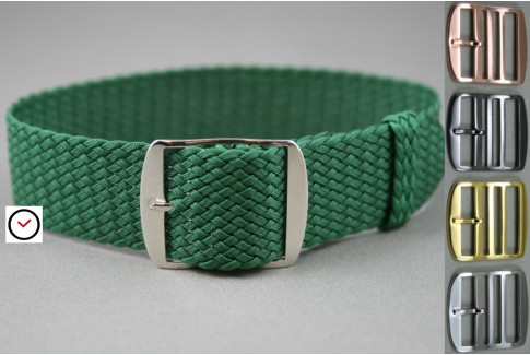 Green braided Perlon watch strap
