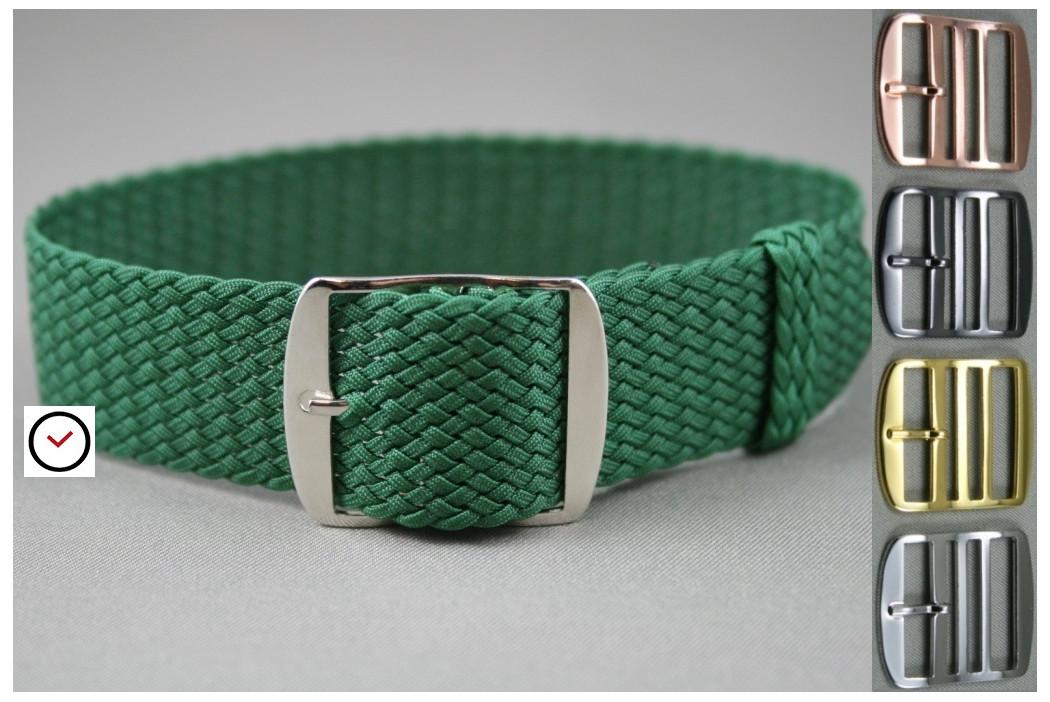 Bracelet montre Perlon tressé Vert