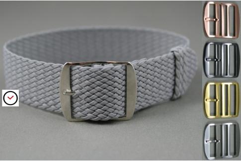 Light Grey braided Perlon watch strap