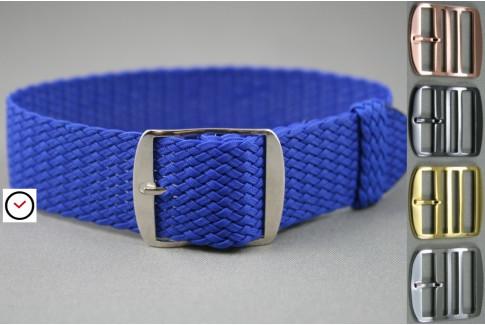 Electric Blue braided Perlon watch strap