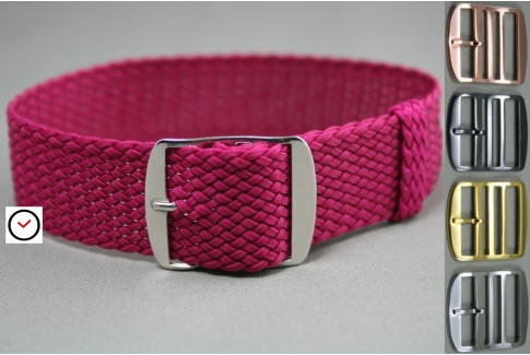 Purple braided Perlon watch strap