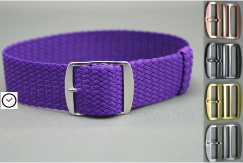 Violet braided Perlon watch strap