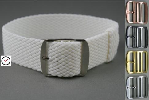 White braided Perlon watch strap