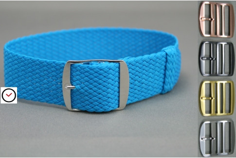 Caribbean Blue braided Perlon watch strap
