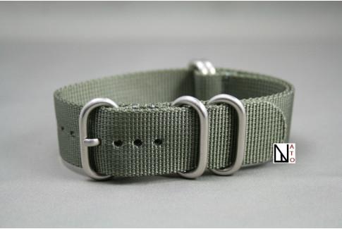Bracelet nylon NATO ZULU Gris Vert XL, extra-long (30,5cm)