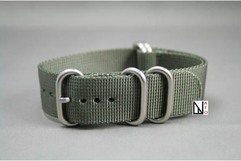 XL Green Grey NATO ZULU nylon strap, extra-long (30.5cm)