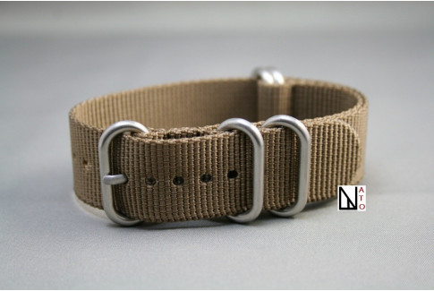 Bracelet nylon NATO ZULU Marron Bronze XL, extra-long (30,5cm)
