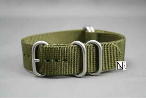 Bracelet nylon NATO ZULU Vert Olive XL, extra-long (30,5cm)