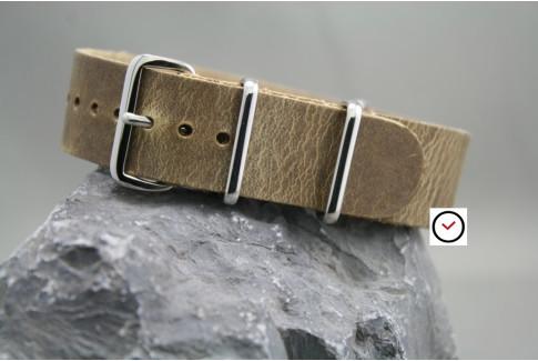 Bracelet cuir NATO Baroudeur