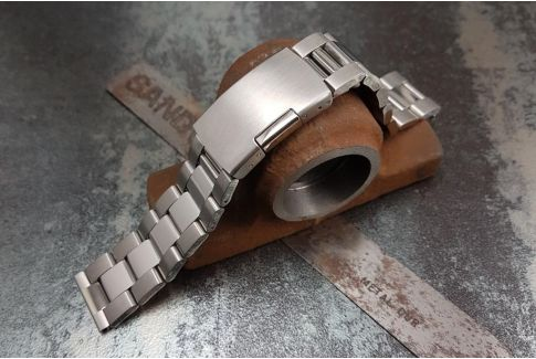 """""""Max"""" solid stainless steel watch band (18, 20, 22, 24 mm), deployment clasp"""
