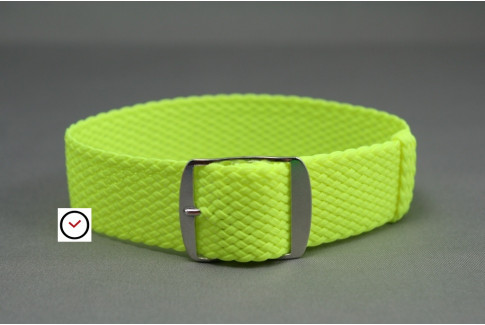 Fluo Yellow braided Perlon watch strap