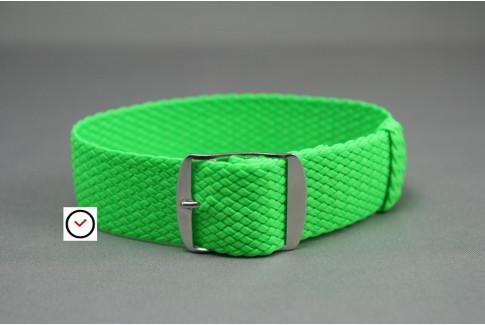 Bracelet montre Perlon tressé Vert Fluo
