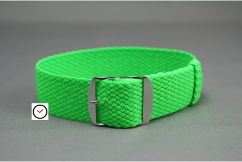 Fluo Green braided Perlon watch strap
