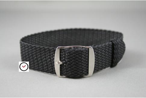 Bracelet montre Perlon tressé Noir
