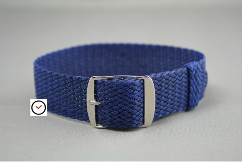Bracelet montre Perlon tressé Bleu Marine