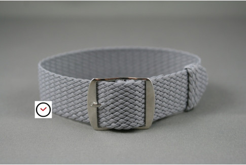 Light Grey braided Perlon watch strap