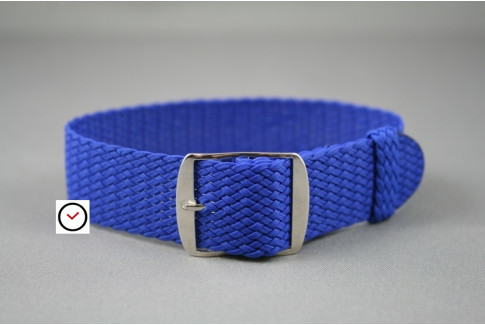 Electric Blue braided Perlon watch strap