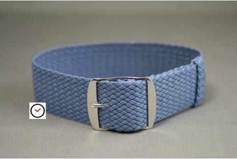 Bracelet montre Perlon tressé Bleu Ciel