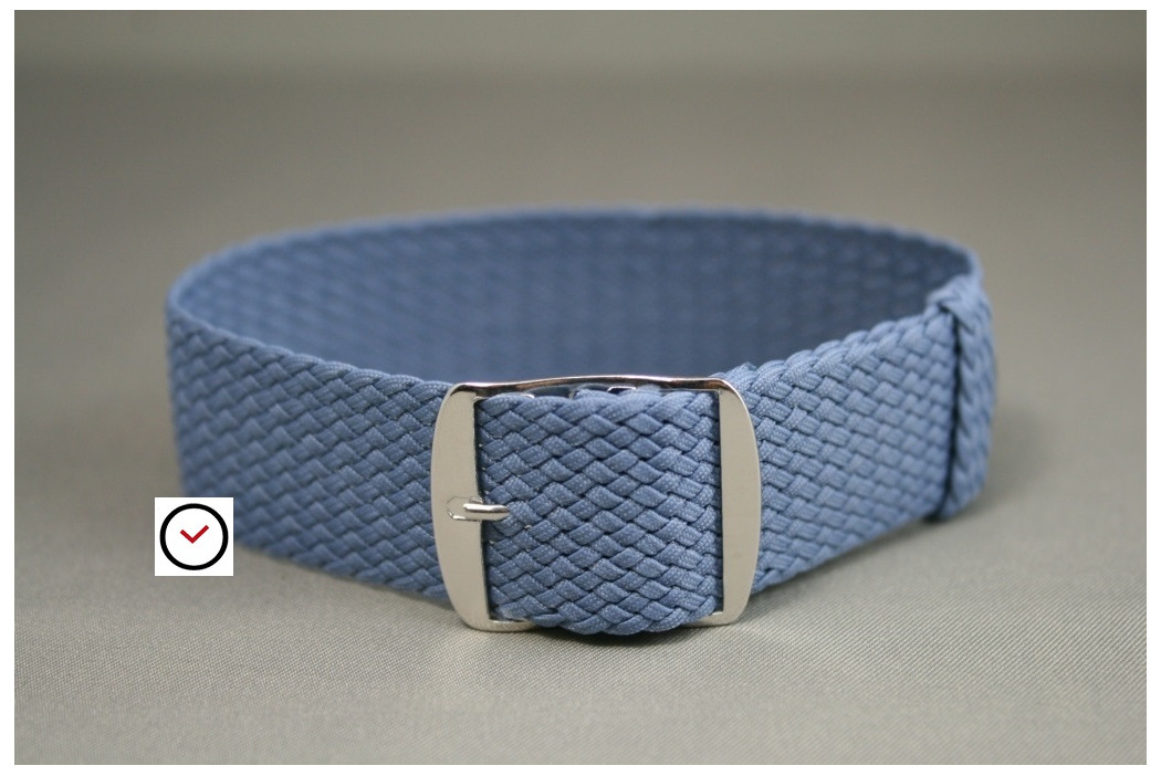 Sky Blue braided Perlon watch strap