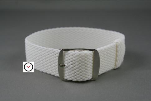 Bracelet montre Perlon tressé Blanc