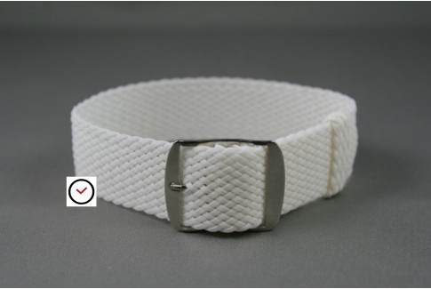 White braided Perlon watch strap