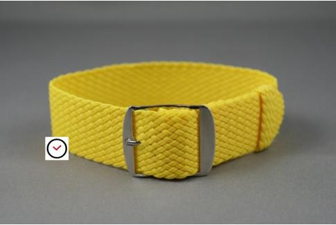 Bracelet montre Perlon tressé Jaune