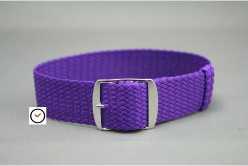 Bracelet montre Perlon tressé Violet