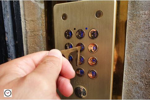 No touch security key for doors, buttons and touch-sensitive screens