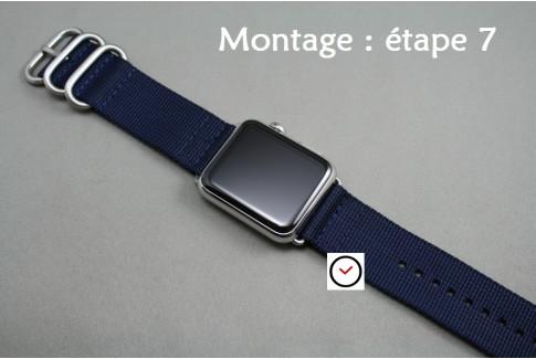 Adaptateurs bracelets acier inox pour Apple Watch 42mm (kit complet)