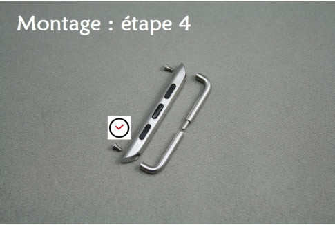 Adaptateurs bracelets acier inox pour Apple Watch 38mm (kit complet)