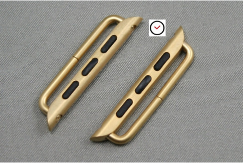 38mm Apple Watch Band Adapters, gold stainless steel (complete kit)
