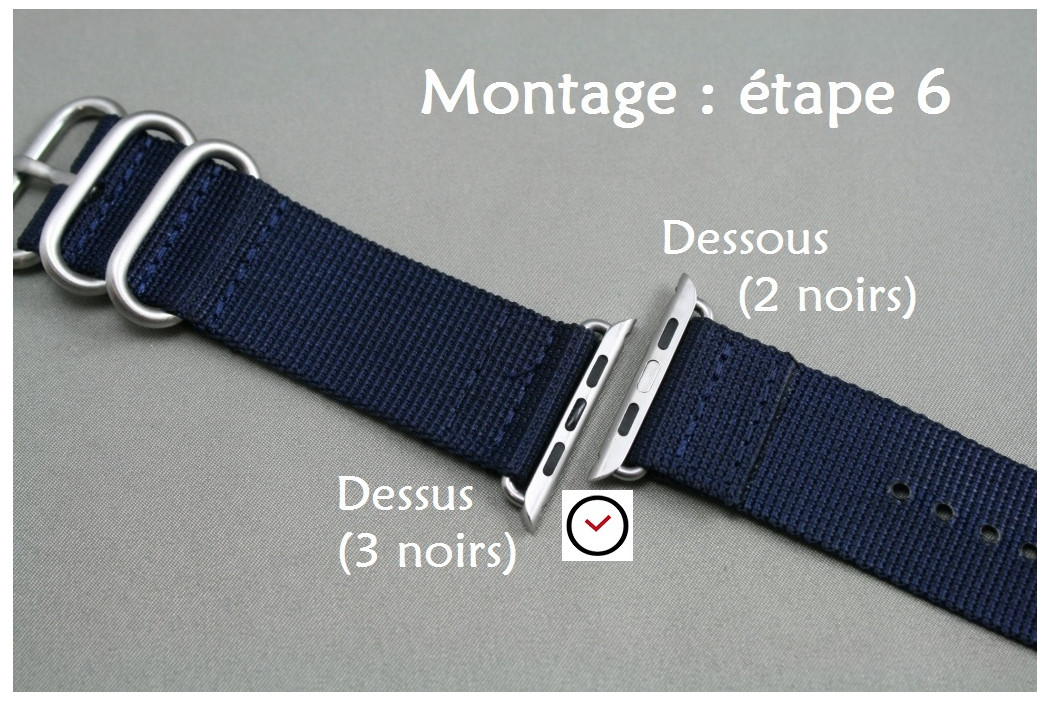 Adaptateurs bracelets acier inox or pour Apple Watch 38mm (kit complet)