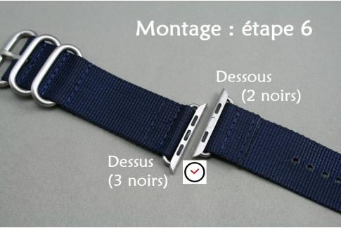 Adaptateurs bracelets acier inox or rose pour Apple Watch 42mm (kit complet)