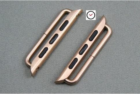 38mm Apple Watch Band Adapters, rose gold stainless steel (complete kit)