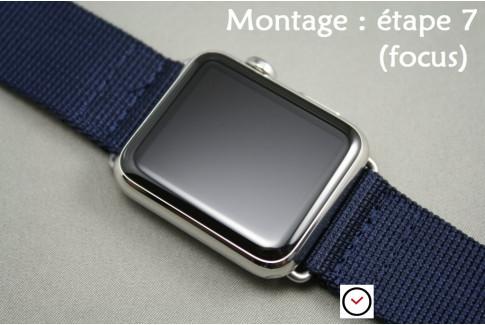 Adaptateurs bracelets acier inox or rose pour Apple Watch 38mm (kit complet)