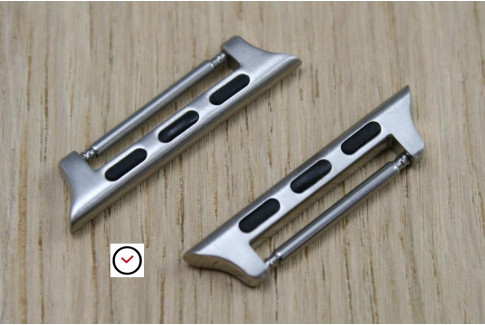 """Adaptateurs bracelets """"BandClip"""" pour Apple Watch 42mm (acier inox)"""