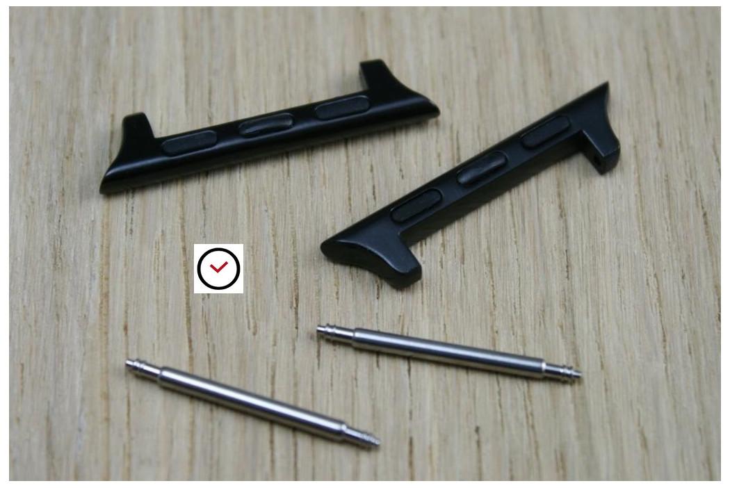 """Adaptateurs bracelets """"BandClip"""" pour Apple Watch 42mm (acier inox noir)"""
