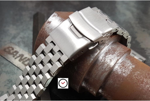 Engineer solid stainless steel watch band (18, 20, 22 & 24 mm), security clasp