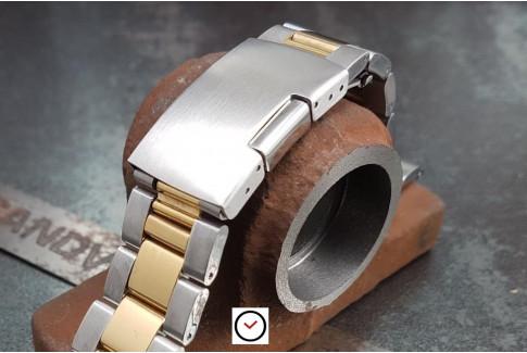 """Bracelet montre """"Sam"""" en acier inox massif, boucle déployante (18, 20, 22 & 24 mm)"""
