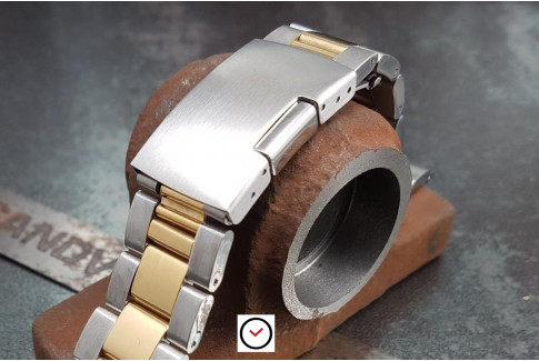 """""""Sam"""" solid stainless steel watch band (18, 20, 22 & 24 mm), deployment clasp"""