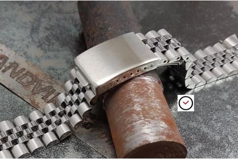 Bracelet montre Jubilee en acier inox massif avec pièces de bout 20mm