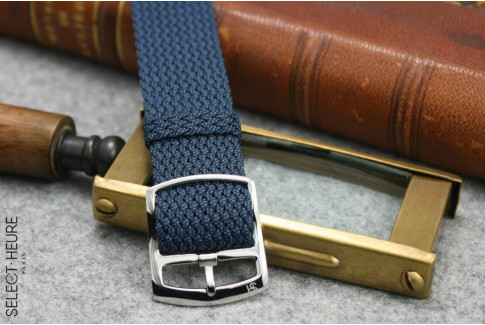 Select'Heure blue braided Perlon watch strap